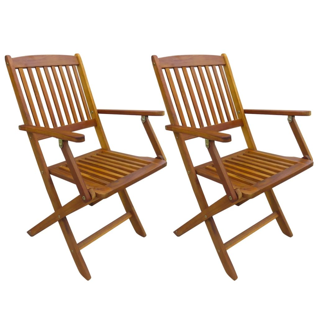 d585f9ea54aa vidaXL Vonkajšie skladacie jedálenské stoličky