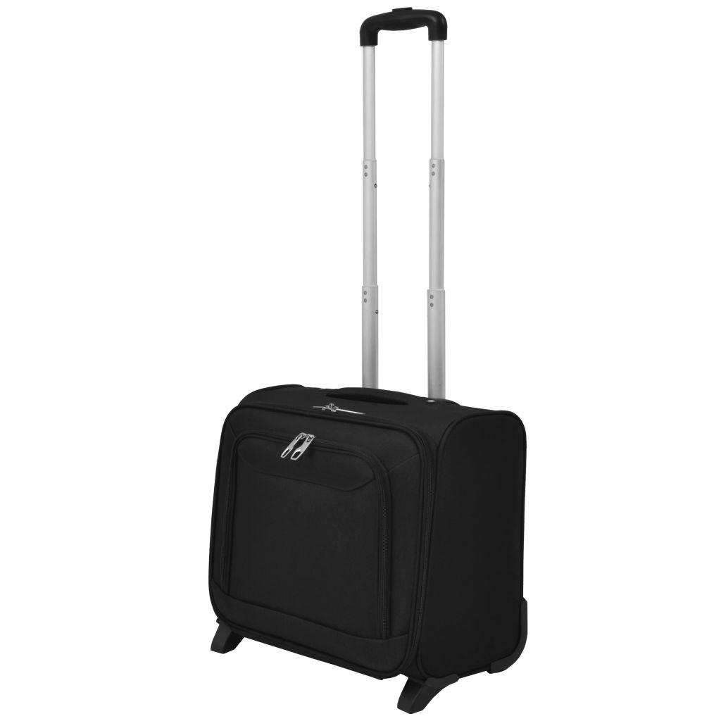 vidaXL Cestovný palubný kufor, čierny