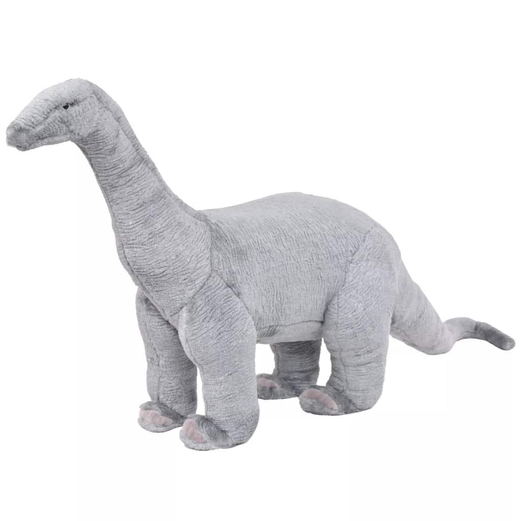 vidaXL Stojaca plyšová hračka, dinosaurus Brachiosaurus, zelený XXL