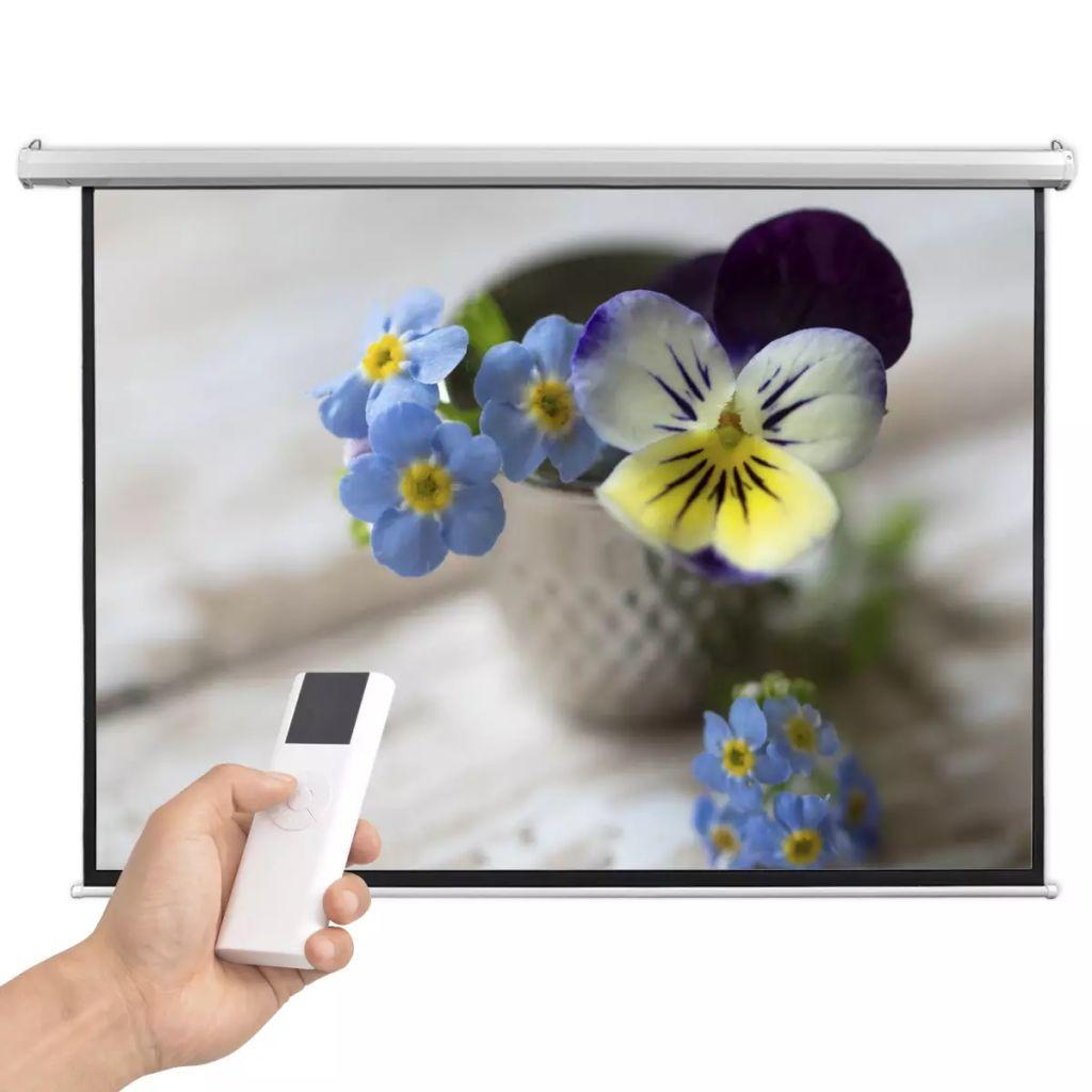 vidaXL Elektrické projekčné plátno s diaľkovým ovládaním, 200x153 cm, 4:3