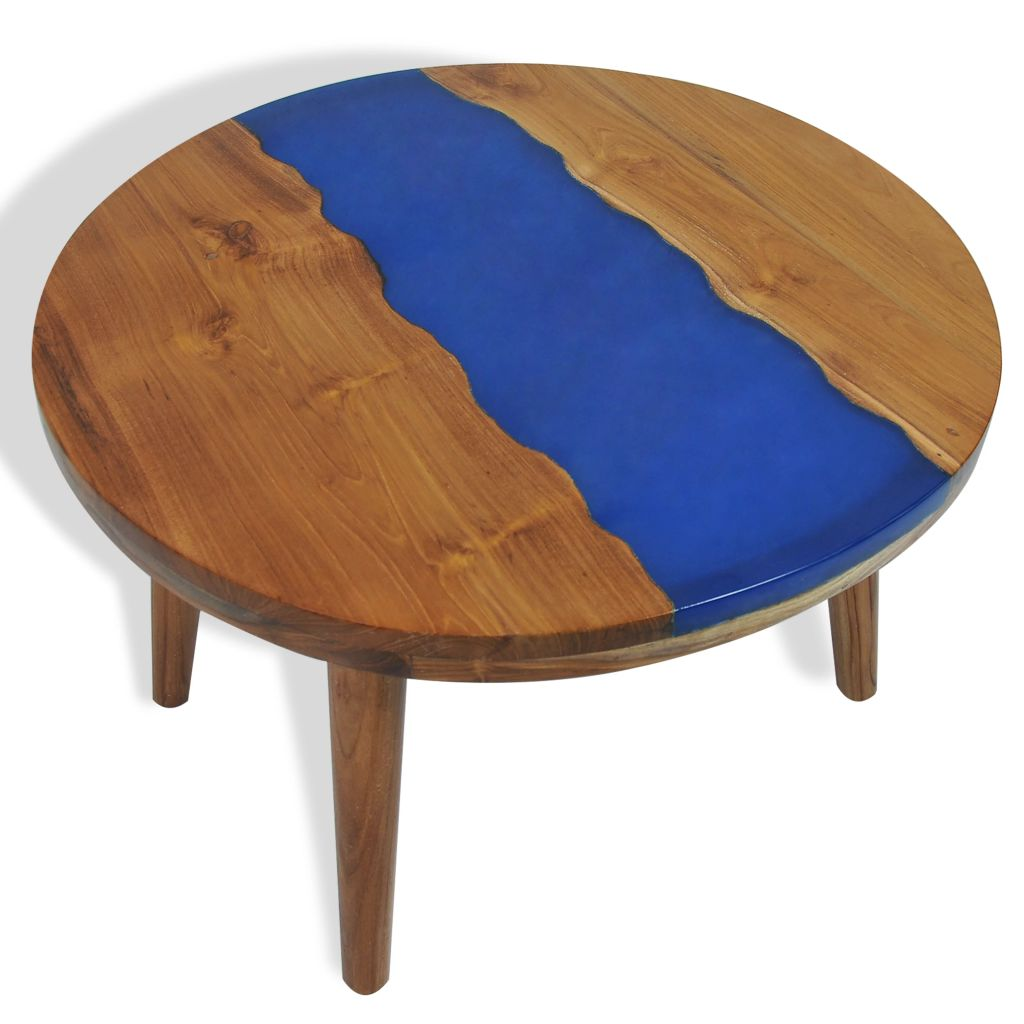 vidaXL Konferenčný stolík 60x40 cm teak a živica