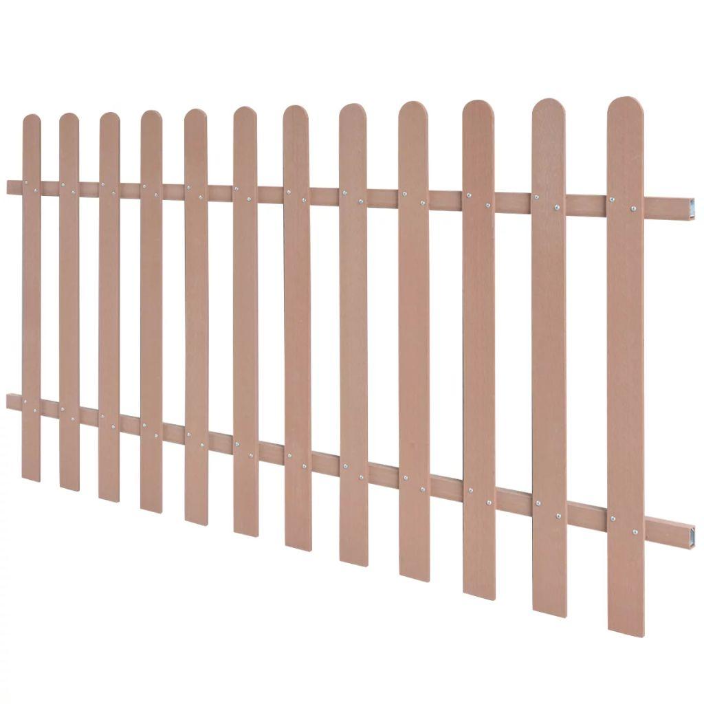 vidaXL Drevoplastový latkový plot, 200 x 100 cm, hnedý