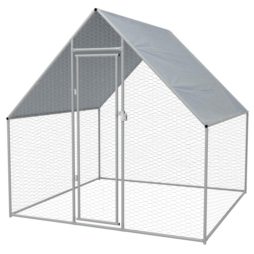 vidaXL Vonkajšia klietka pre sliepky, pozinkovaná oceľ, 2x2x2 m