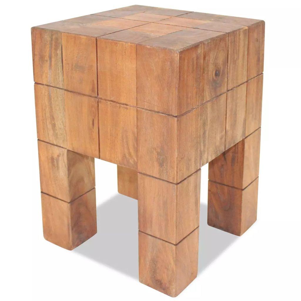 vidaXL Stolička z recyklovaného masívu 28x28x40 cm