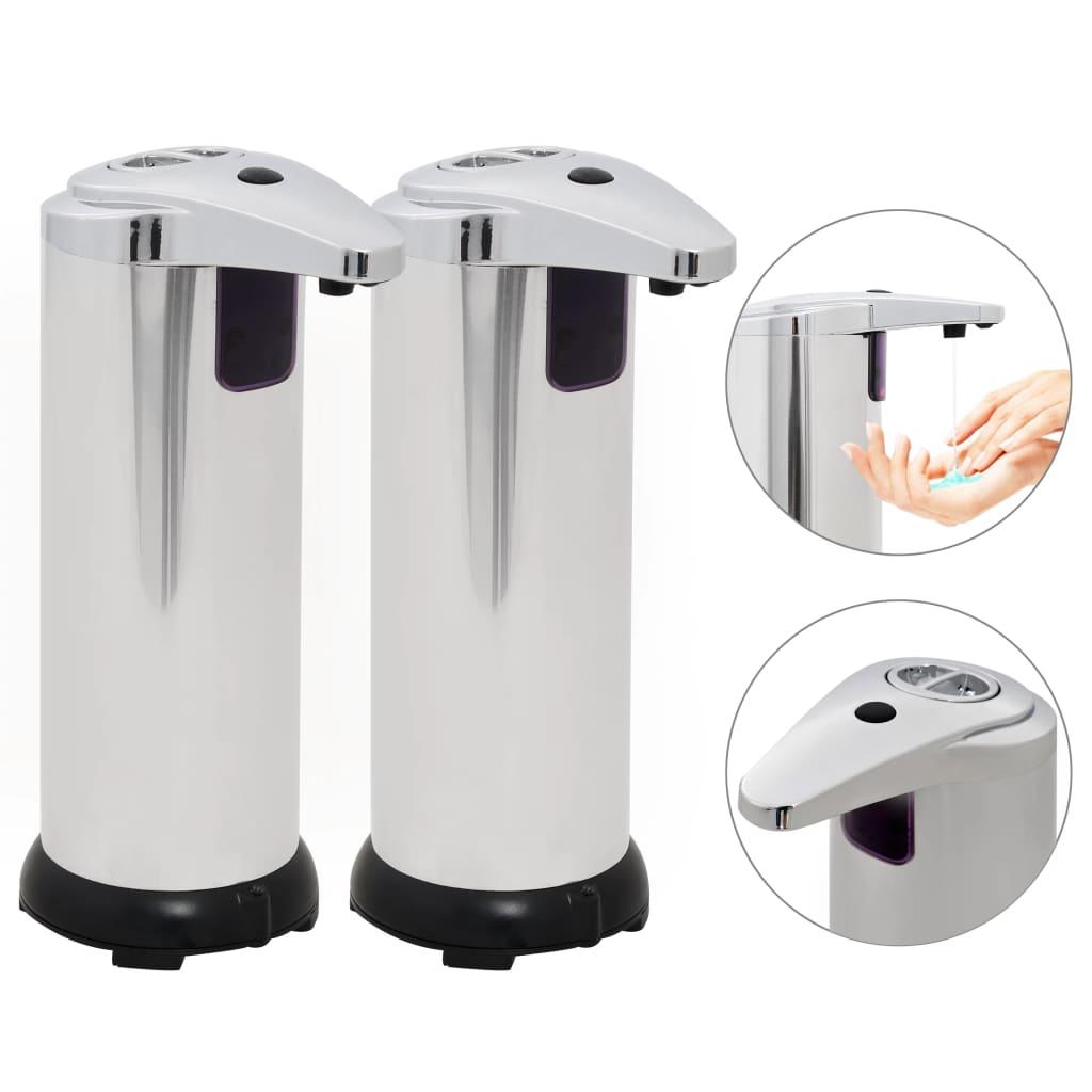 vidaXL Automatické dávkovače mydla, infračervený senzor, 2 ks, 600 ml