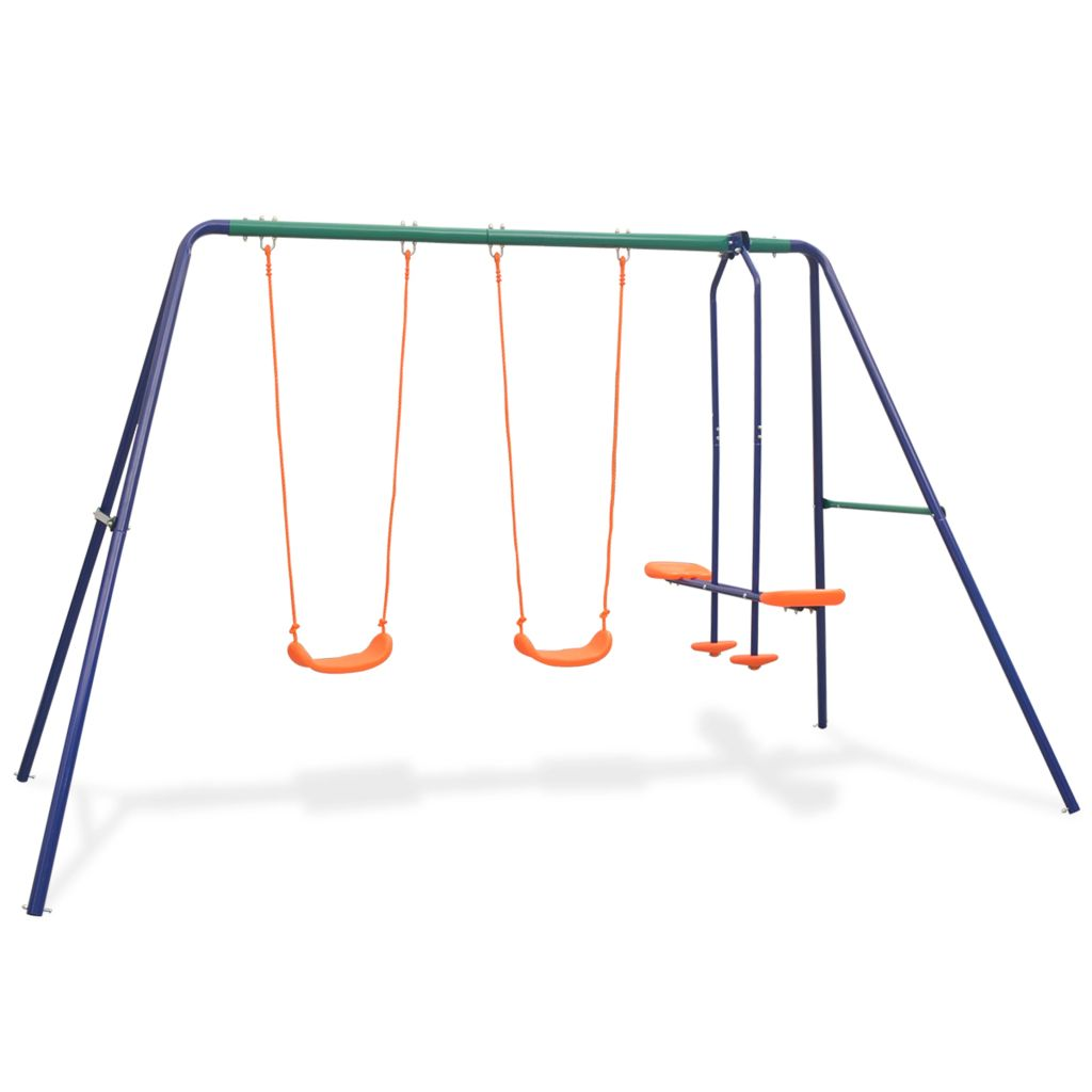 vidaXL Súprava hojdačiek so 4 sedadlami, oranžová