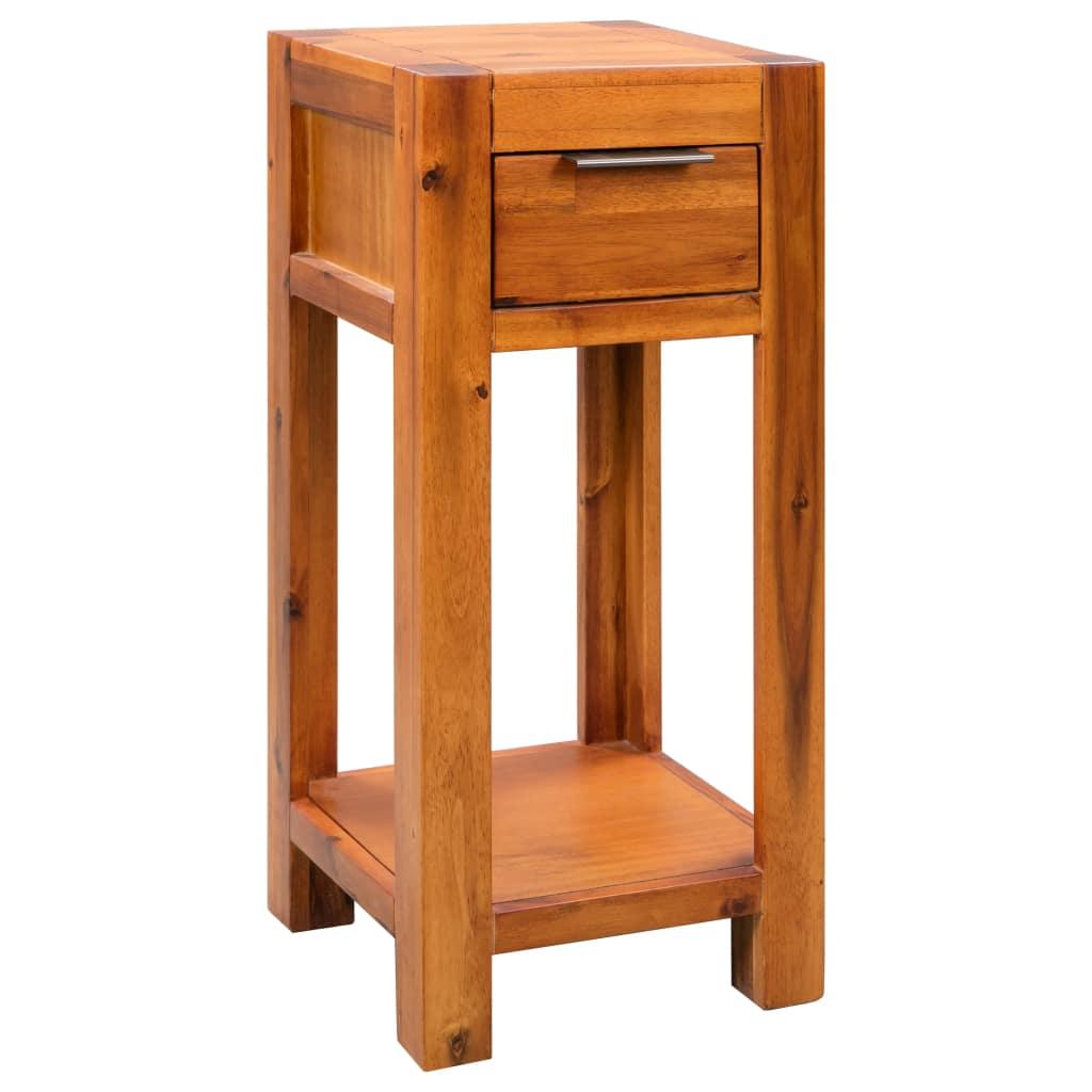 vidaXL Príručný stolík z akáciového dreva 30x30x70 cm