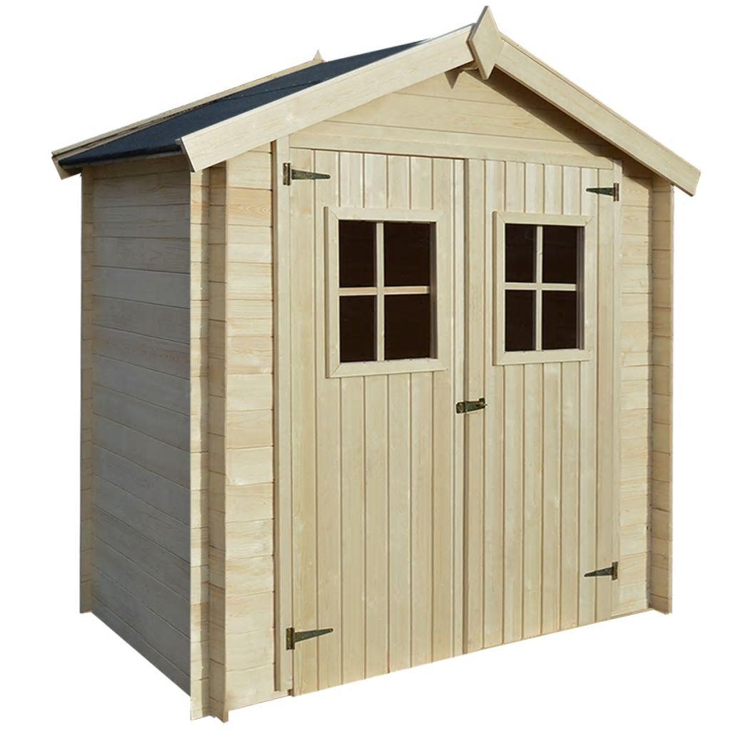 vidaXL Záhradný drevený domček/dreváreň/kôlňa, 2x1 m, 19 mm
