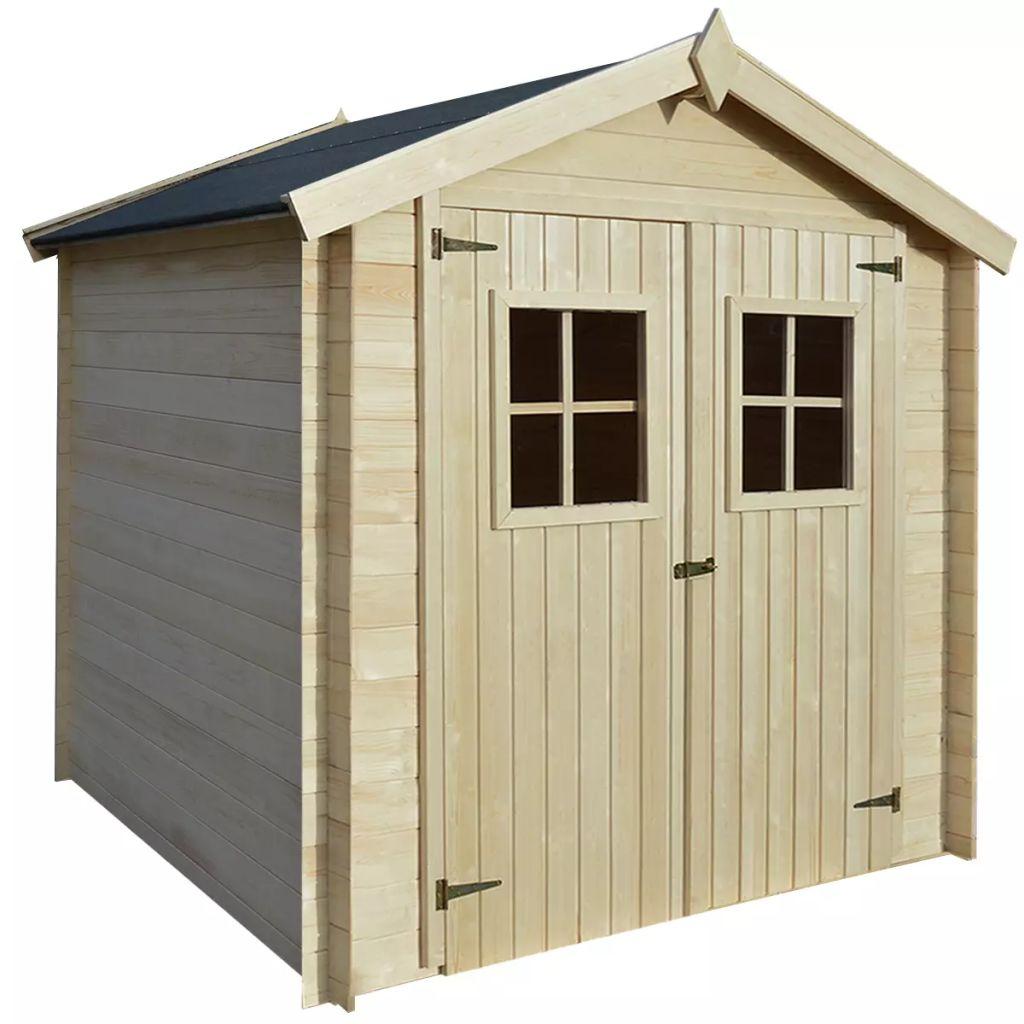 vidaXL Záhradný drevený domček/dreváreň/kôlňa, 2x2 m, 19 mm