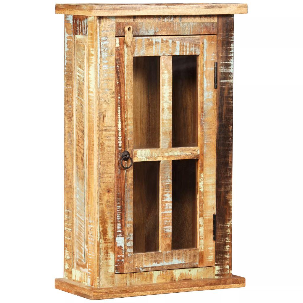 vidaXL Nástenná skrinka, masívne recyklované drevo, 44x21x72 cm