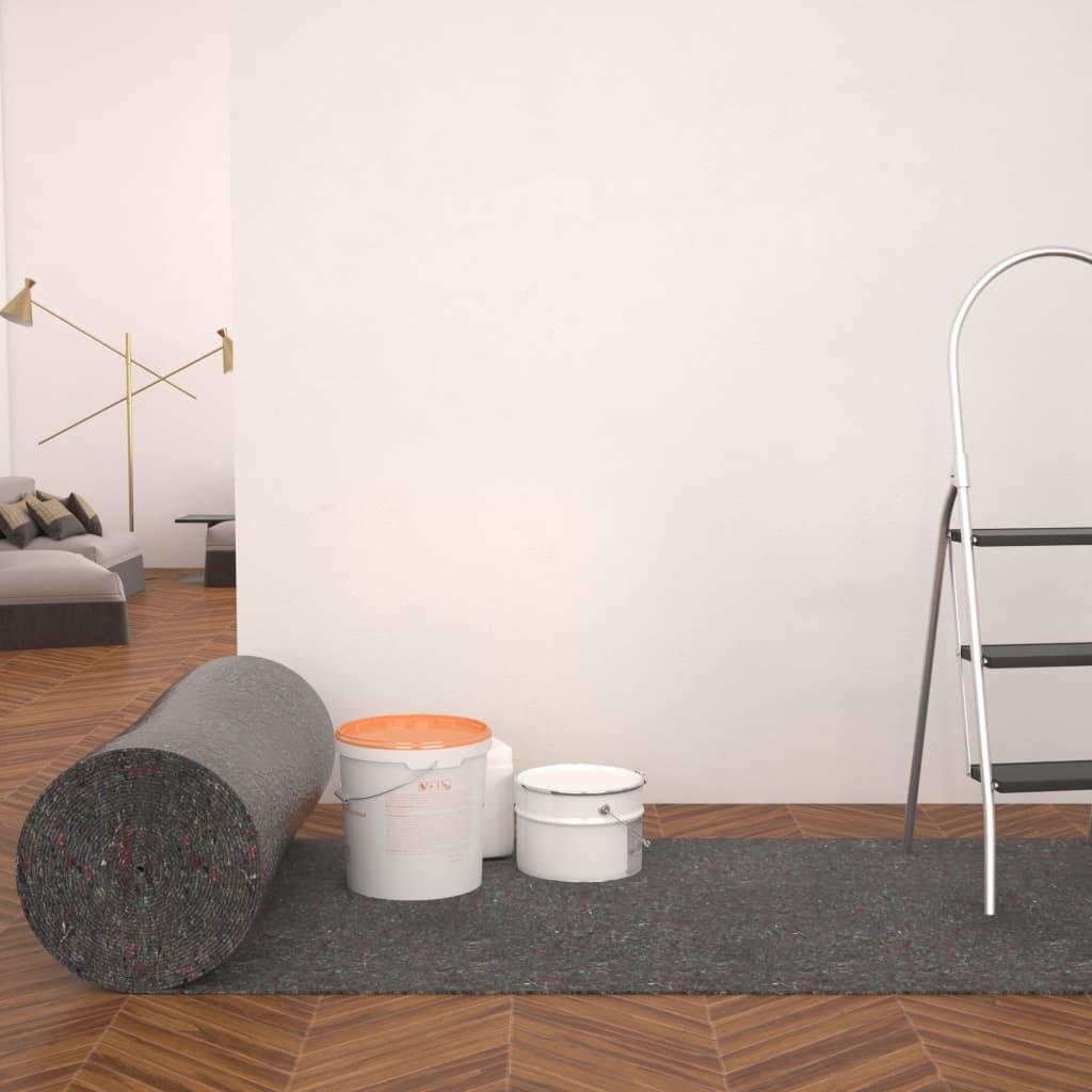 vidaXL Ochranný koberec, fleece, 2 ks, 50 m, 280 g/m², sivý