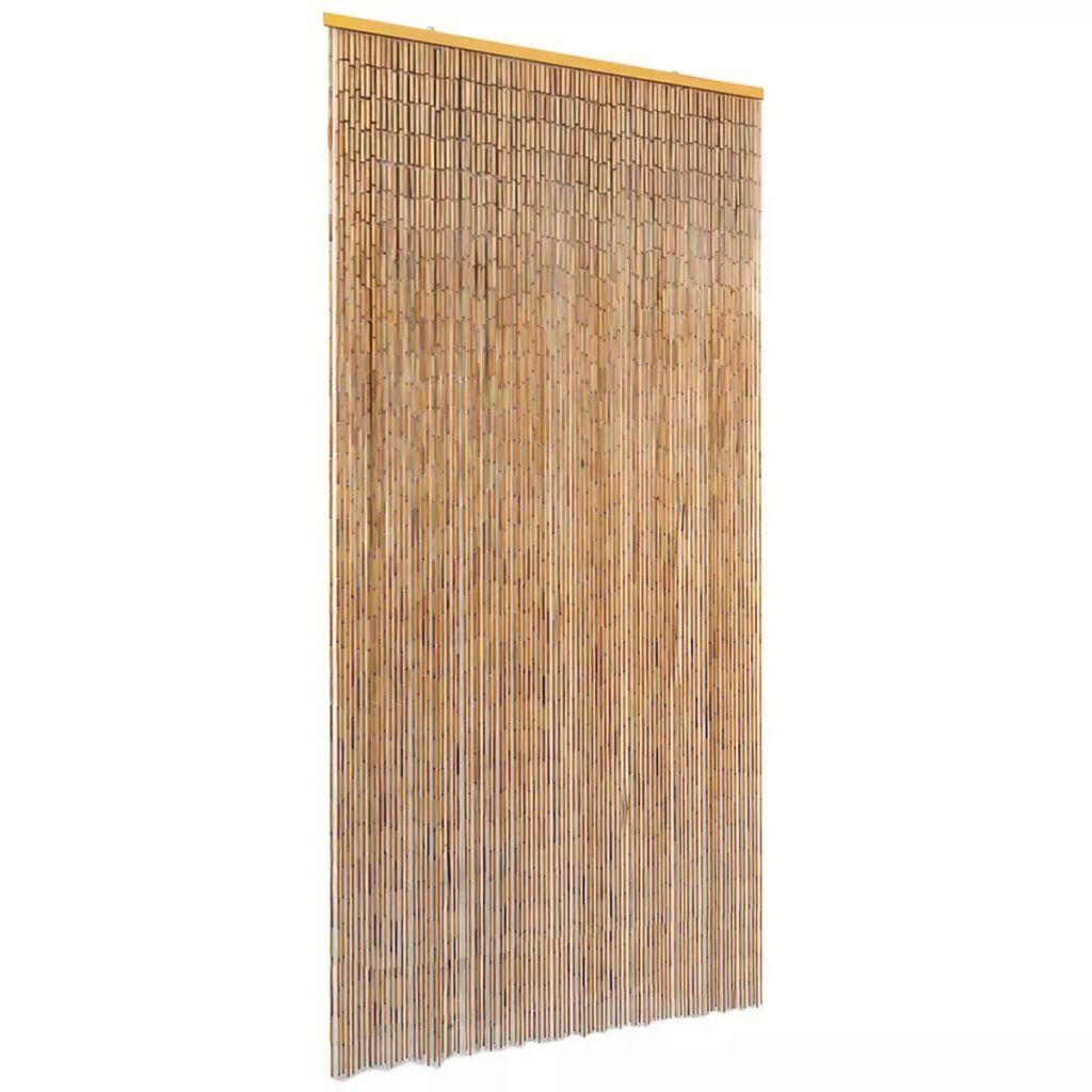 vidaXL Záves proti hmyzu do dverí, bambus 90x220 cm