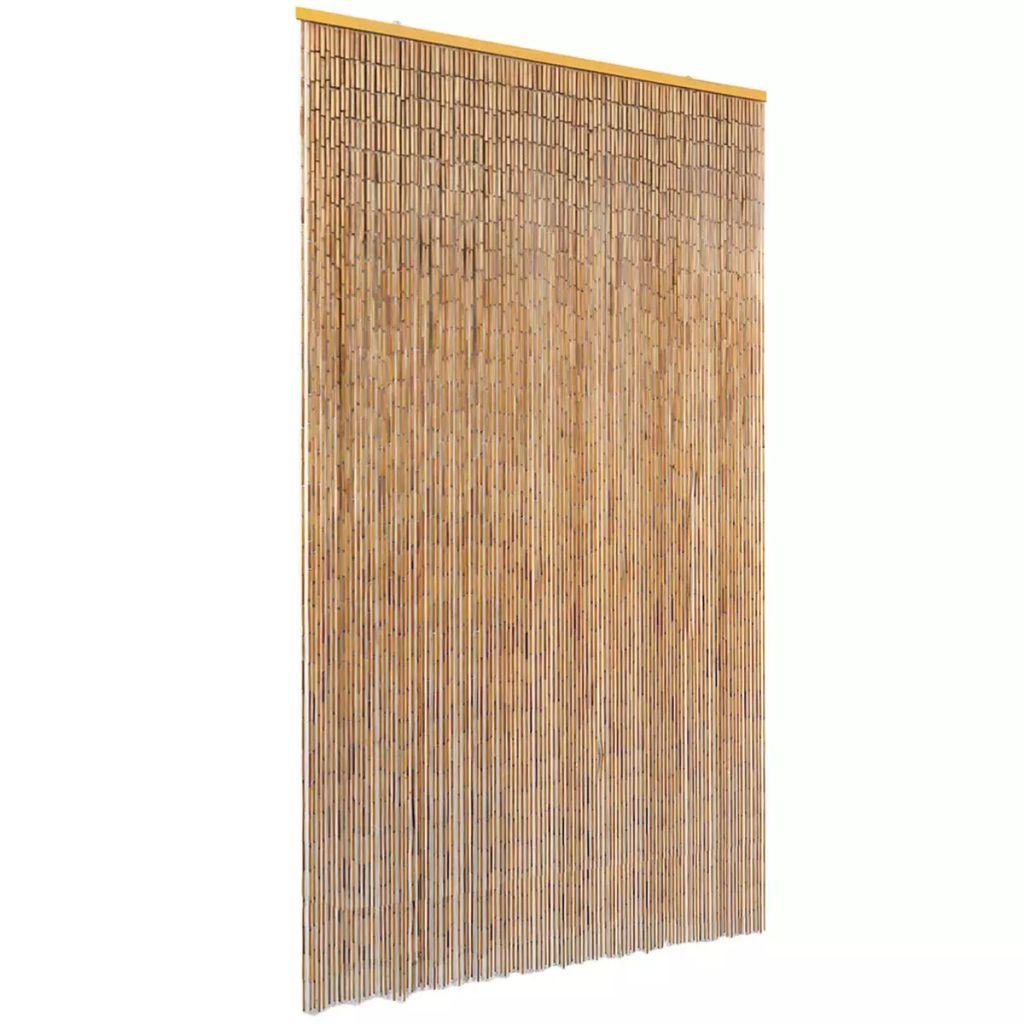 vidaXL Záves proti hmyzu do dverí, bambus 120x220 cm
