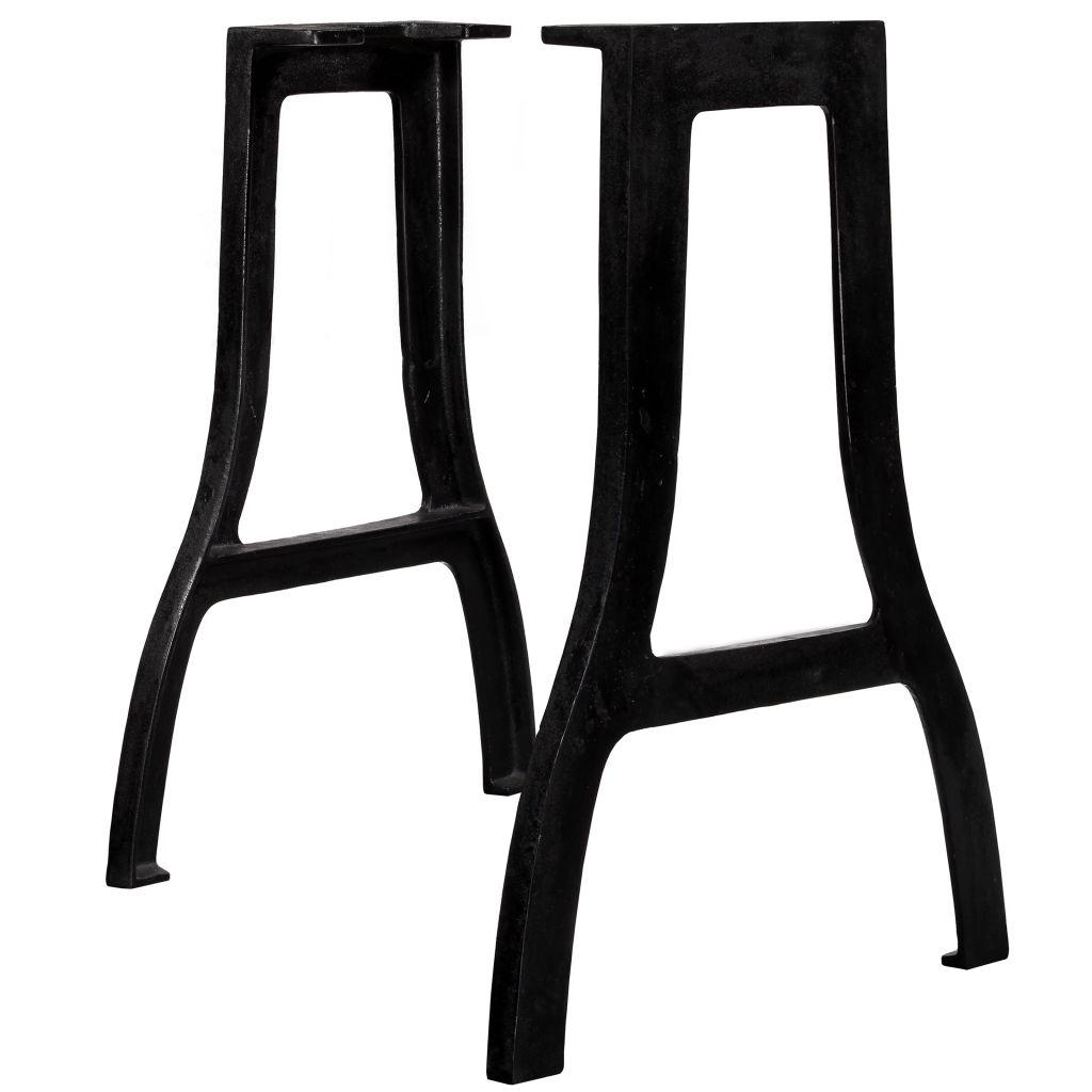 vidaXL Nohy pre jedálenský stôl 2 ks, rámy v tvare A, liatina