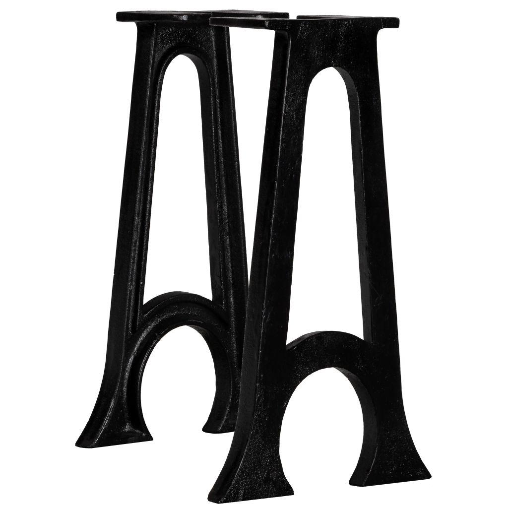 vidaXL Nohy pre lavičku 2 ks zaoblený rám v tvare A liatina