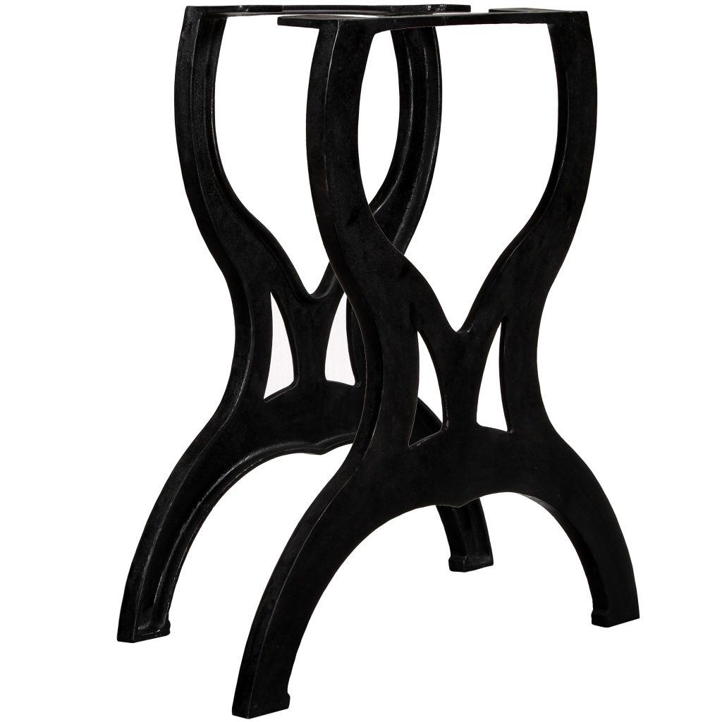 vidaXL Nohy pre jedálenský stôl, 2 ks, rámy v tvare X, liatina
