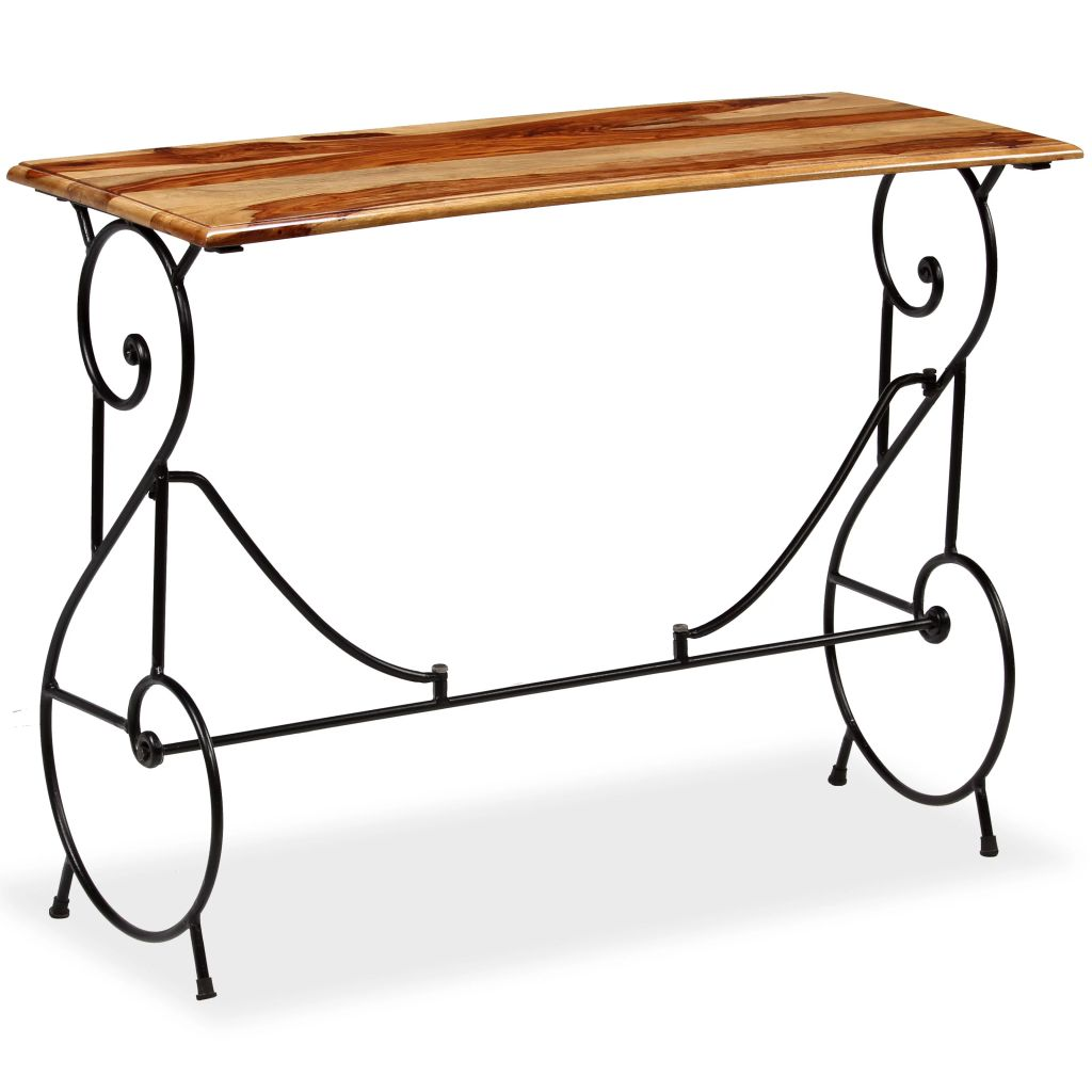vidaXL Konzolový stolík masívne sheeshamové drevo 100x40x75 cm