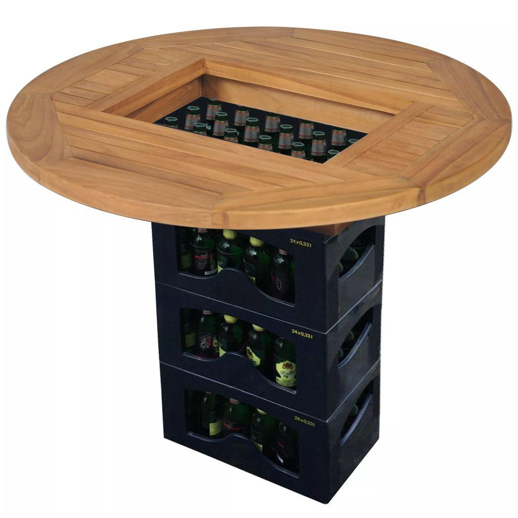 vidaXL Stolová doska pre prepravku na pivo, teakové drevo, 70 cm