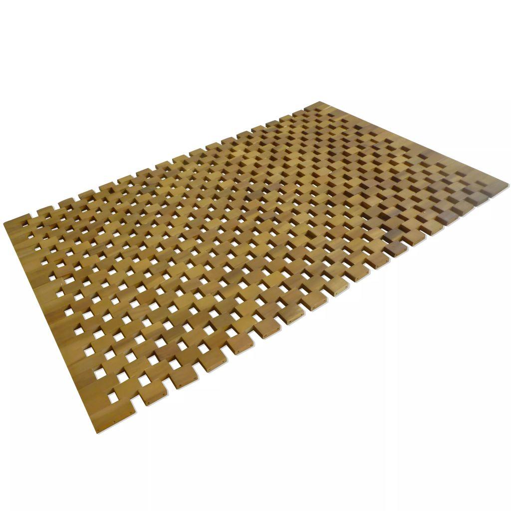 vidaXL Kúpeľňová predložka, akáciové drevo, 80x50 cm, mozaiková