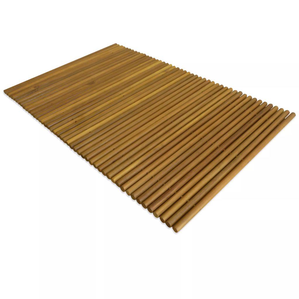 vidaXL Kúpeľňová predložka, akáciové drevo, 80x50 cm