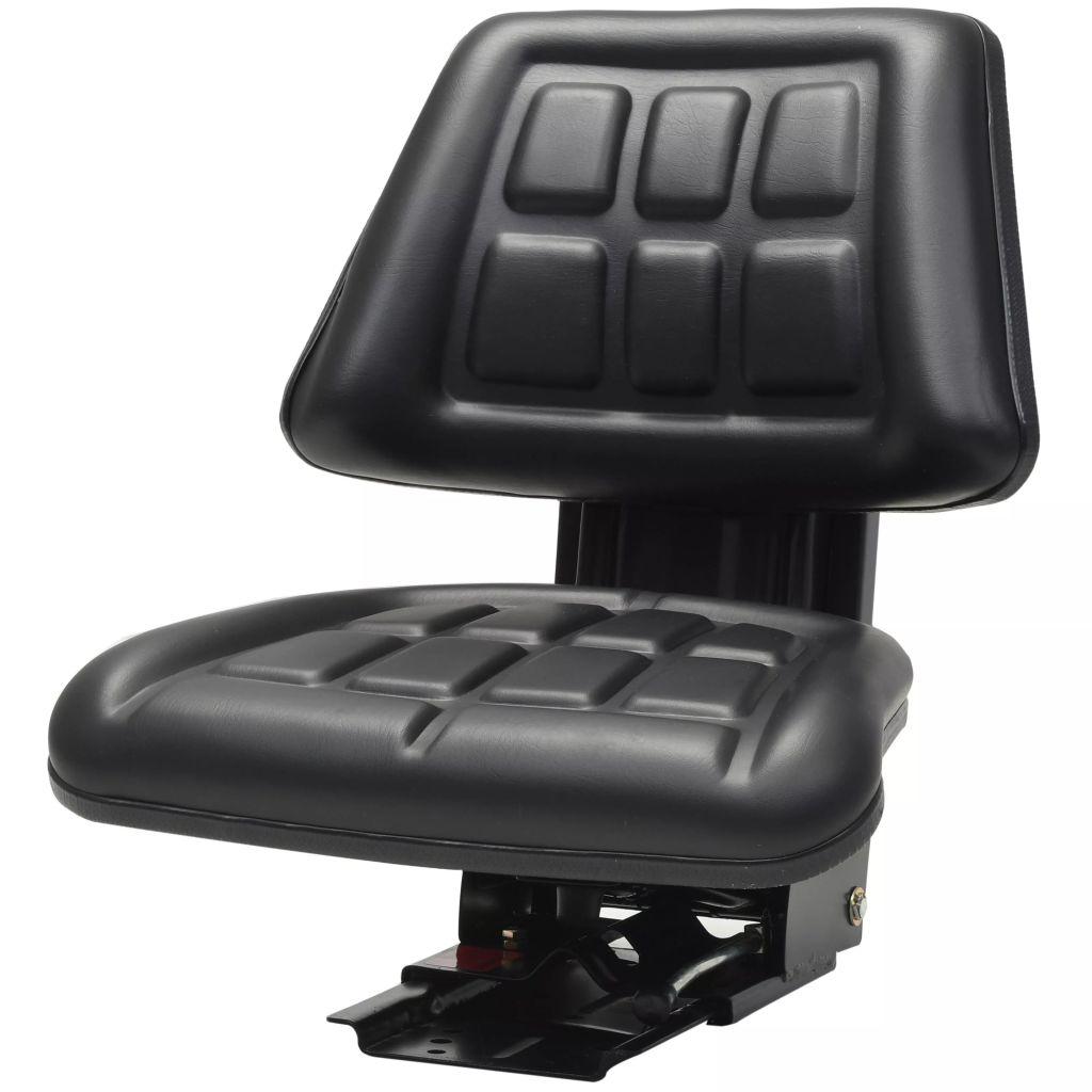 vidaXL Traktorové sedadlo s odpružením, čierne