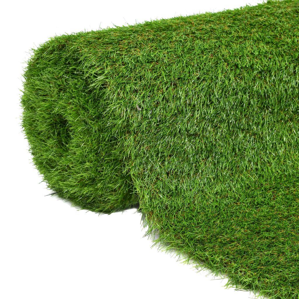 vidaXL Umelý trávnik 1,5x5 m/40 mm, zelený