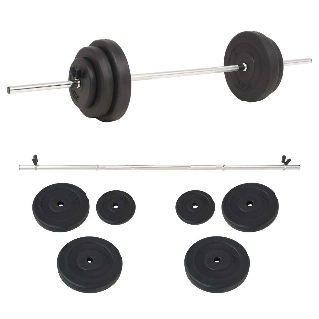 vidaXL Súprava činiek barbell 30 kg