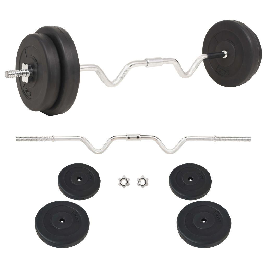 vidaXL Súprava barbell činiek, 30 kg