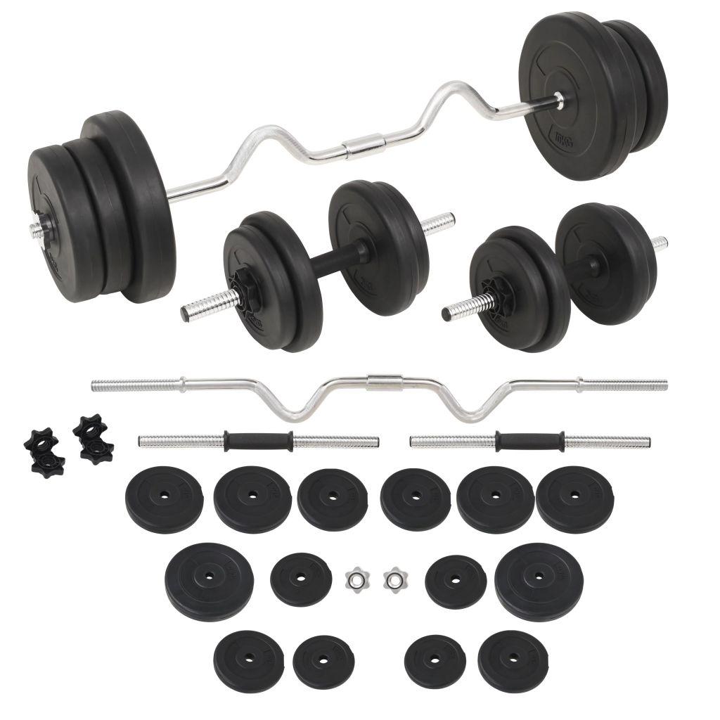vidaXL Súprava závaží a činiek, 60 kg