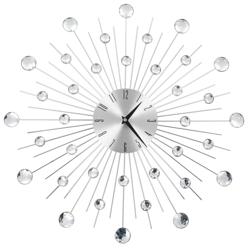 vidaXL Nástenné hodiny s pohonom Quartz moderný dizajn 50 cm
