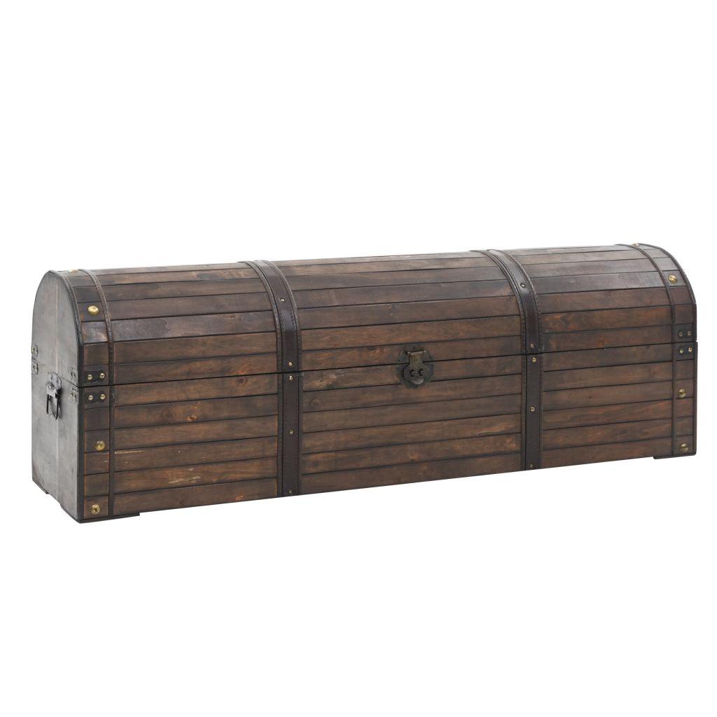 vidaXL Úložná truhlica z masívneho dreva, vintage štýl, 120x30x40 cm