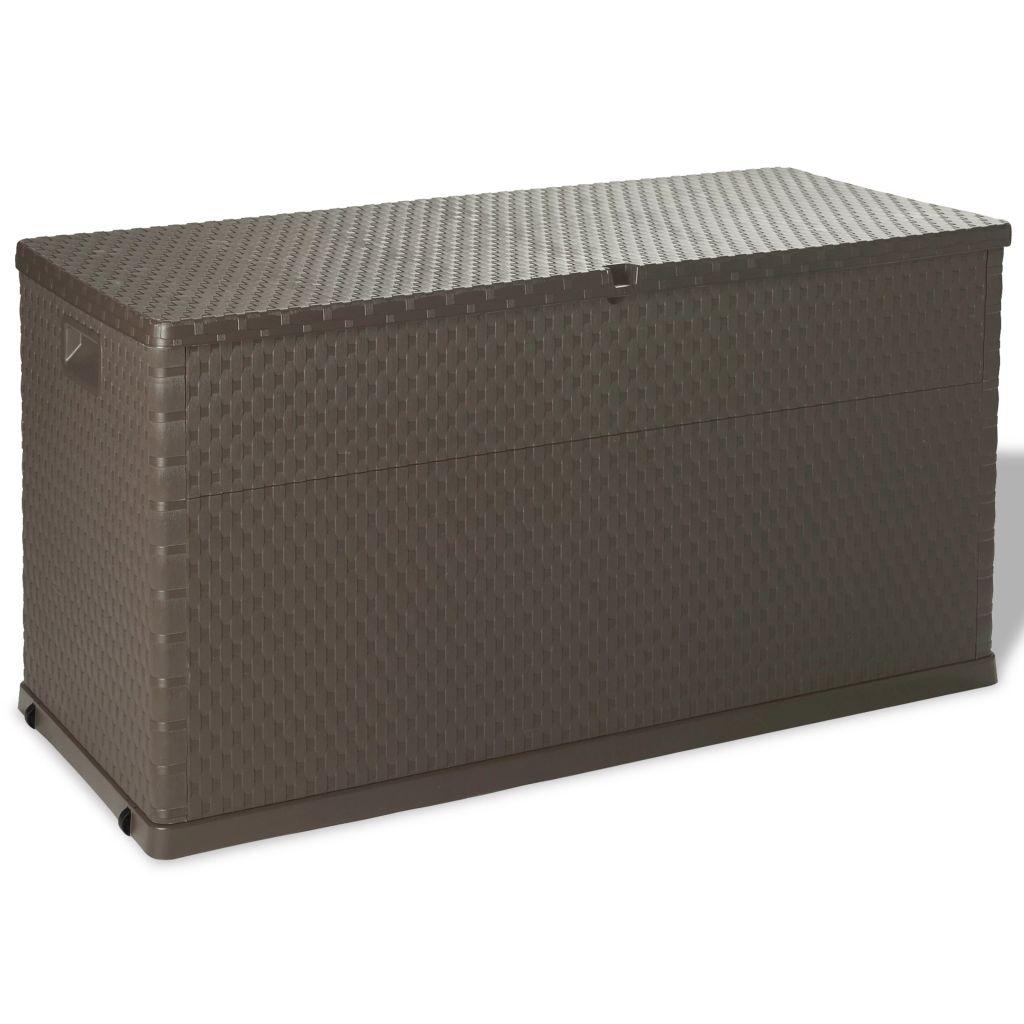 vidaXL Záhradný úložný box, 420 l, hnedý