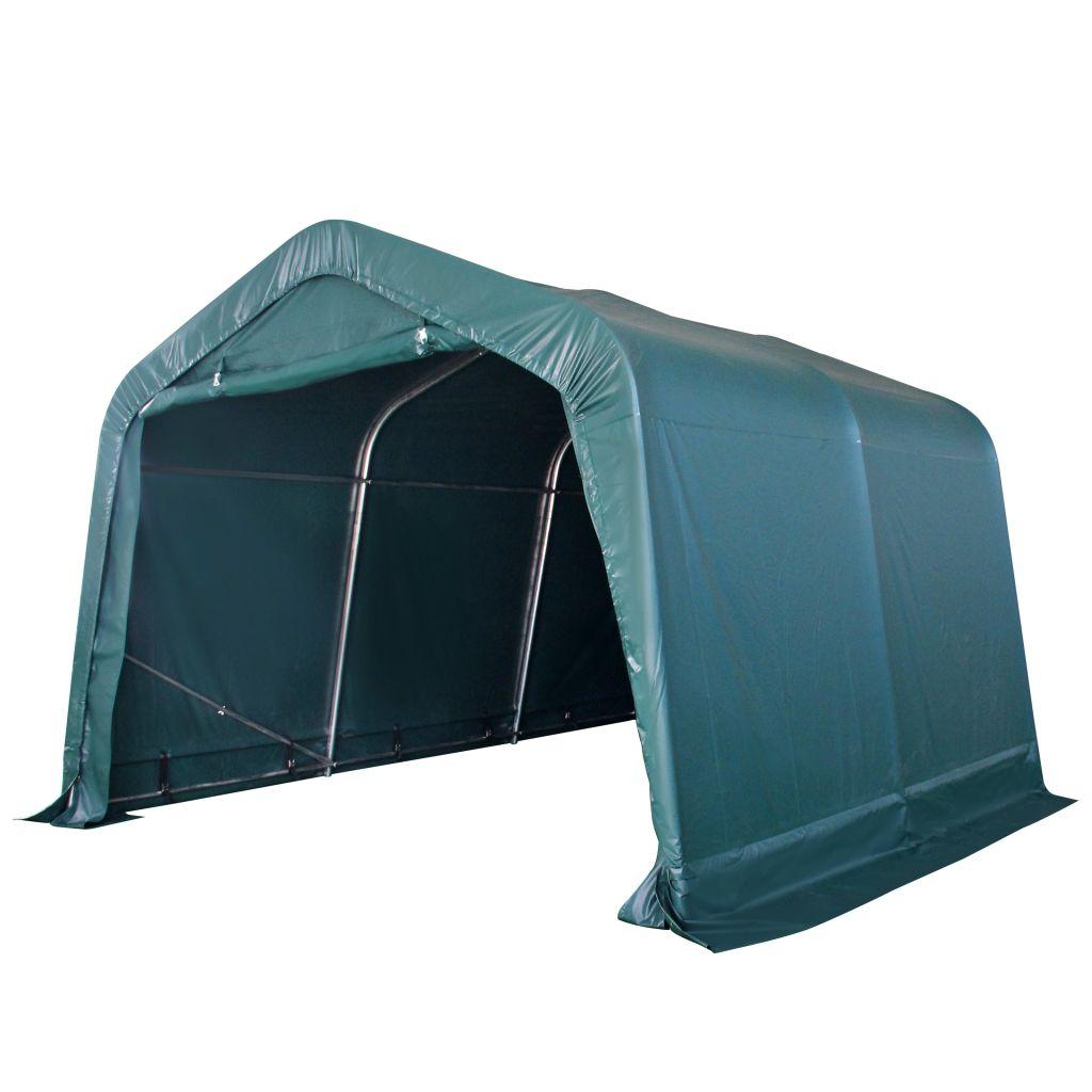 vidaXL Prenosný stan pre hospodárske zvieratá, PVC, 3,3x3,2 m, tmavozelený