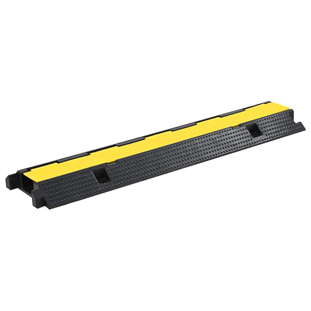 vidaXL Káblový gumený prejazd 1 kanálový 100 cm