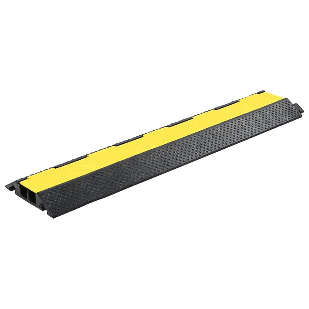 vidaXL Káblový gumený prejazd 2 kanálový 101,5 cm