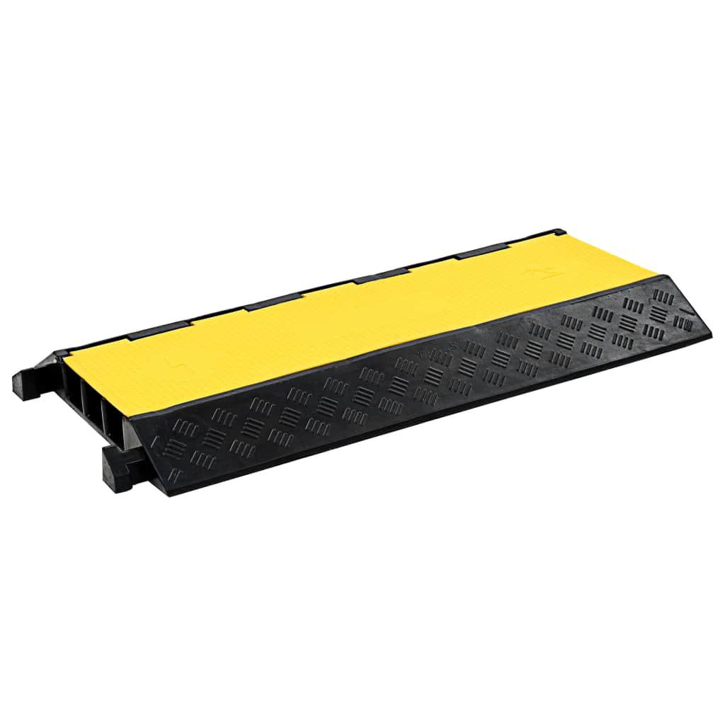 vidaXL Káblový gumený prejazd 3-kanálový 93 cm