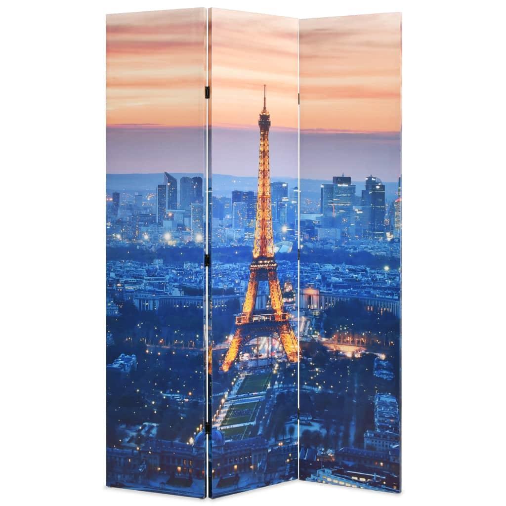 vidaXL Skladací paraván, 120x180 cm, potlač nočného Paríža