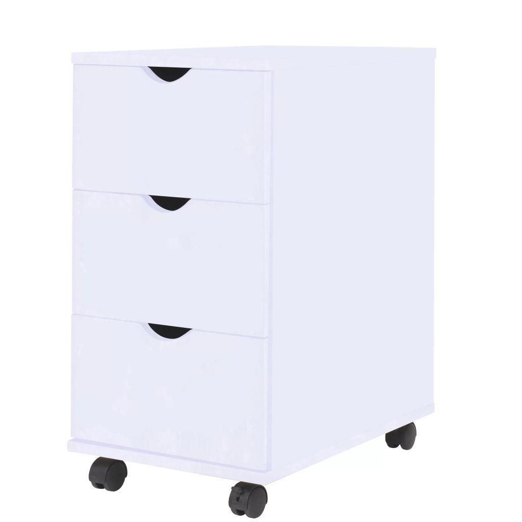 vidaXL Skrinka so zásuvkami 33x45x60 cm, biela