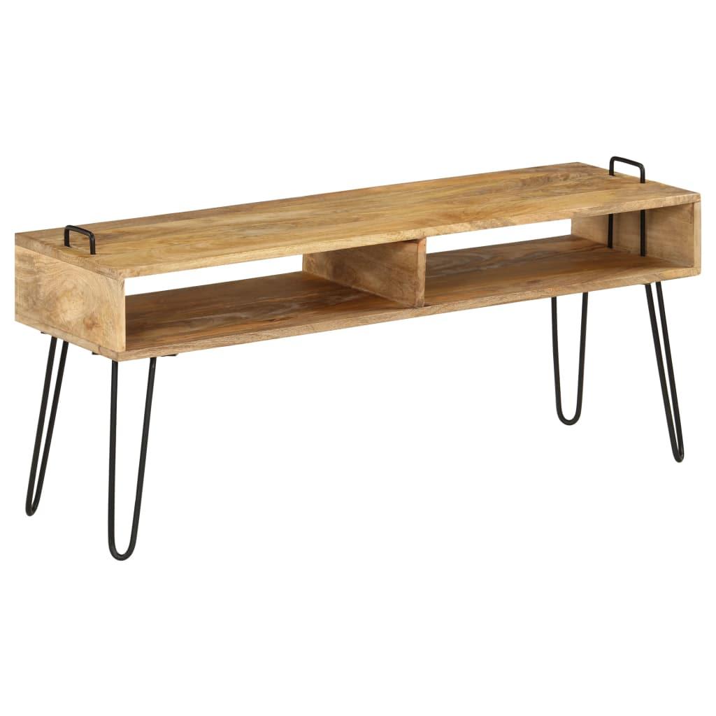 vidaXL TV stolík z masívneho mangovníkového dreva 110x35x45 cm