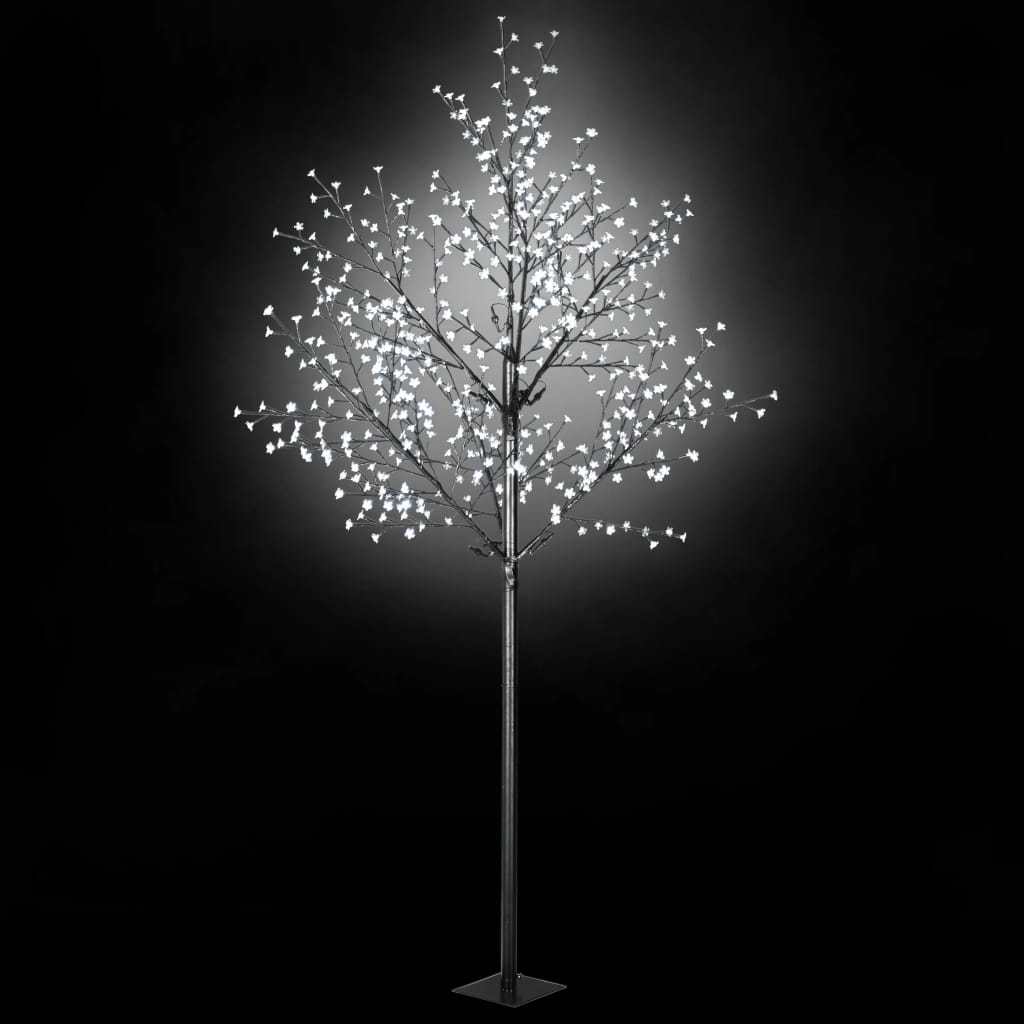 vidaXL Vianočný stromček s LED kvetmi IP44 300cm biele svetlo