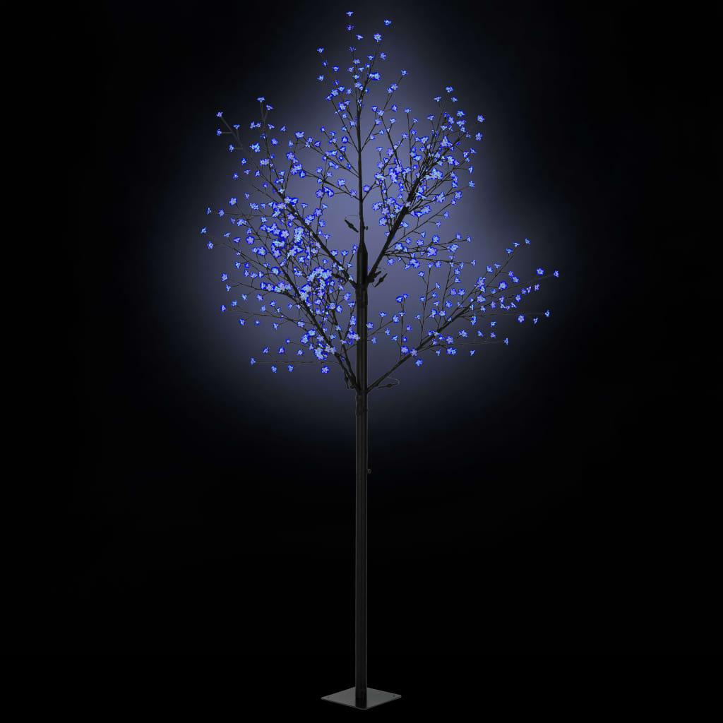 vidaXL Vianočný stromček s LED kvetmi IP44 300cm modré svetlo