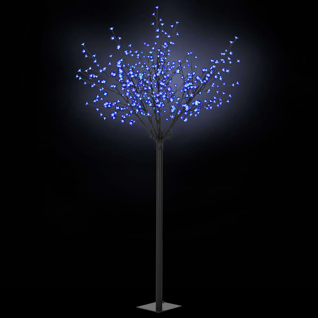 vidaXL Vianočný stromček s LED kvetmi IP44 250cm modré svetlo