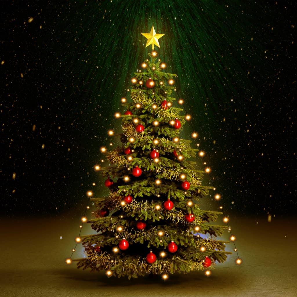 vidaXL Svetelná reťaz na vianočný stromček 180 LED diód, IP44 180 cm