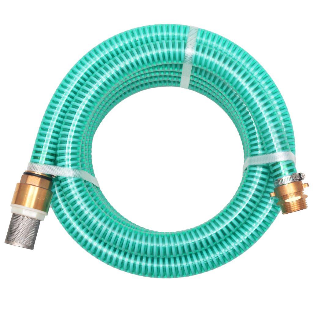 vidaXL  Sacia hadica s mosadznými spojkami, 10 m, 25 mm, zelená
