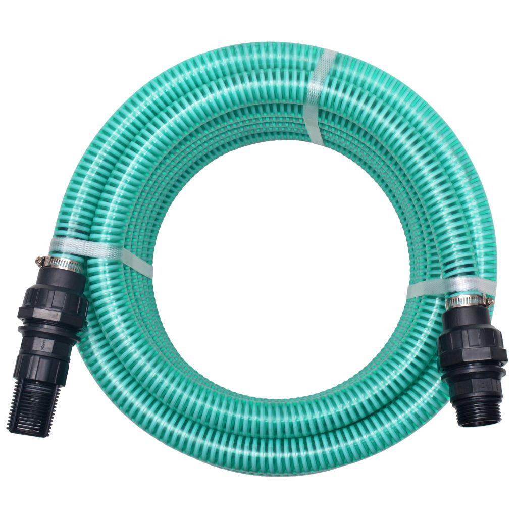 vidaXL Sacia hadica s konektormi 7 m 22 mm zelená