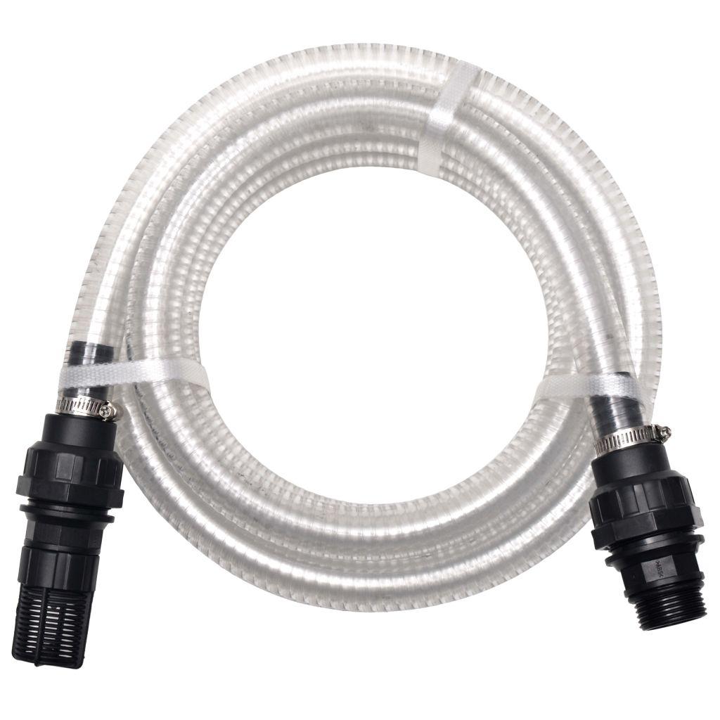 vidaXL Sacia hadica s konektormi 4 m 22 mm biela