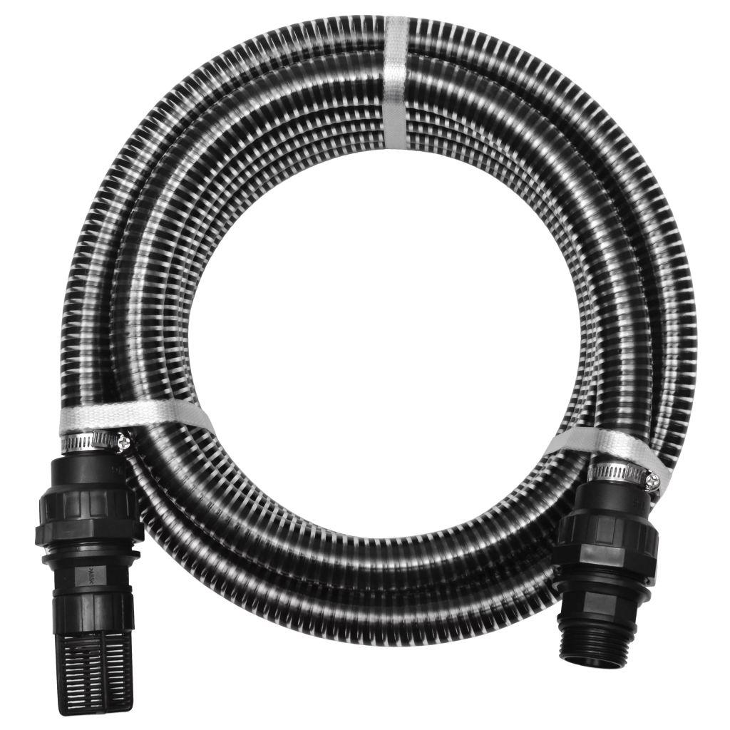 vidaXL Sacia hadica s konektormi 10 m 22 mm čierna