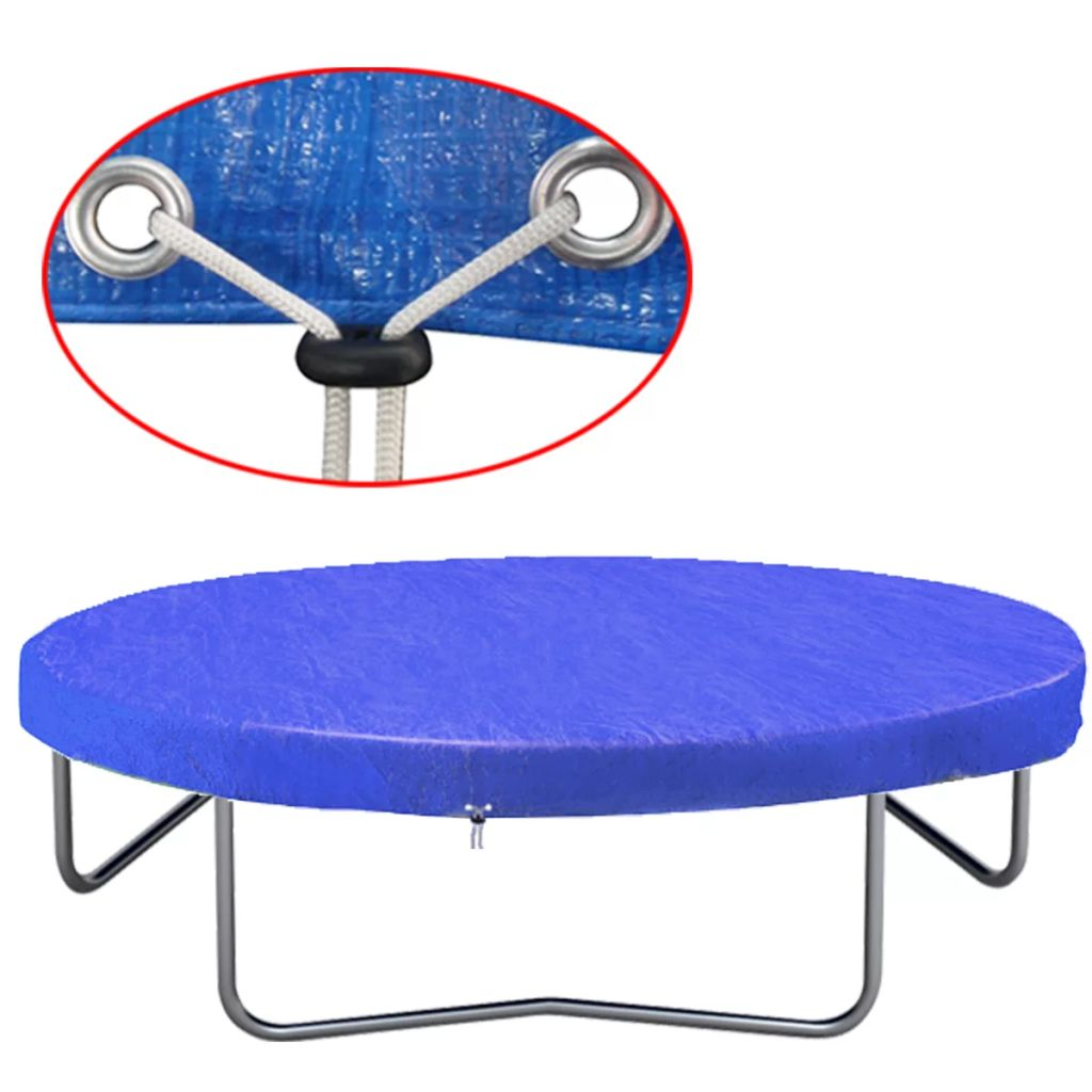 vidaXL Kryt na trampolínu 450-457 cm 90 g/m²