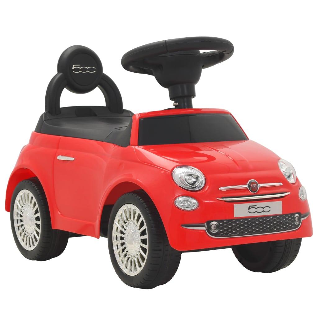 vidaXL Detské autíčko Fiat 500 červené