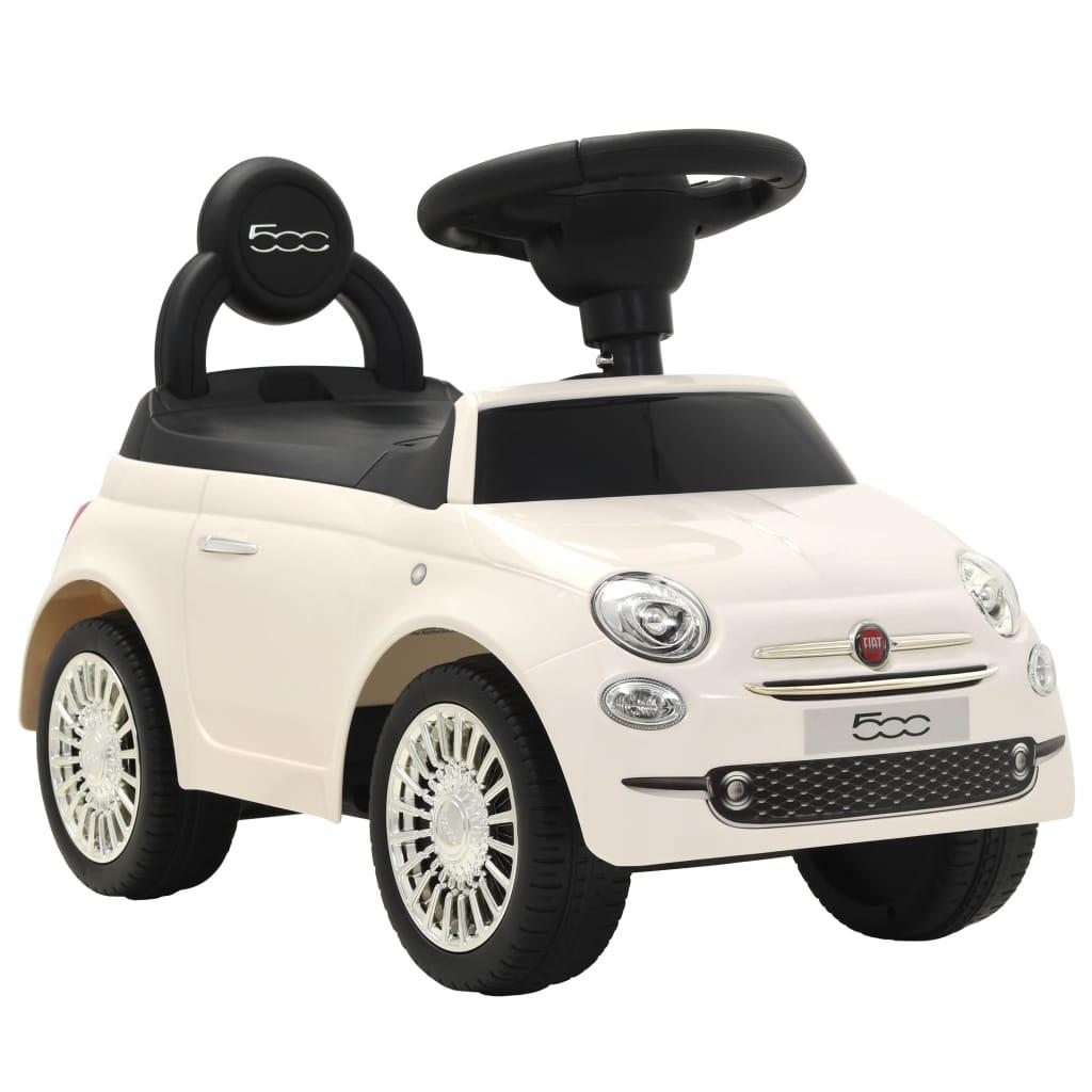 vidaXL Detské autíčko Fiat 500 biele